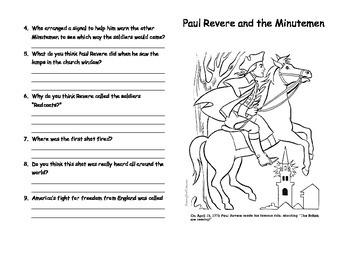 Paul Revere and the Minutemen Mini-Book