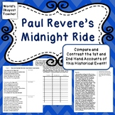 Paul Revere's Midnight Ride:Compare and Contrast 1st and 2