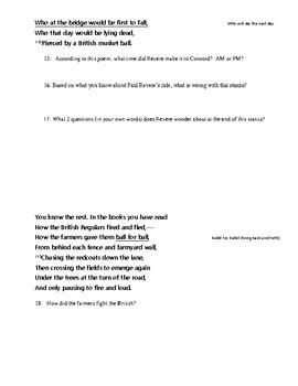 Paul Revere's Ride Analysis
