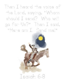 Paul Revere's Ride Bible Verse Printable (Isaiah 6:8)