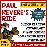 Paul Revere's Ride Poetry Activity - Longfellow