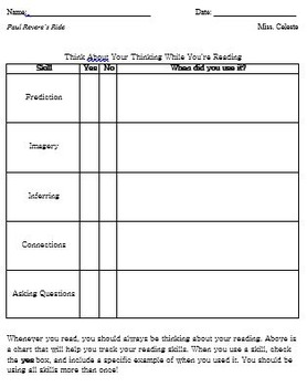 Paul Revere's Ride Guided Reading