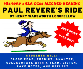 Paul Revere's Ride - Poem Critical Reading