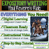 Paul Revere's Ride by H W Longfellow  Text Dependent Analysis Expository Writing