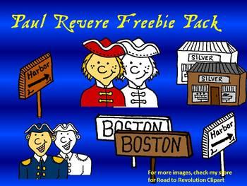 Paul Revere/Boston Clipart Pack-10 images!