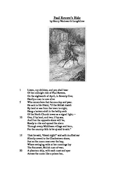 Paul Revere's Ride - Literary Text Test Prep