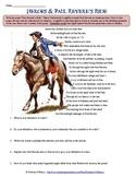 Paul Revere's Ride Poem Analysis Worksheet