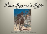 Paul Revere's Ride Powerpoint 24 slides with videoclip (po