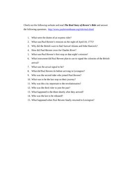 Paul Revere's Ride and Secret Messages