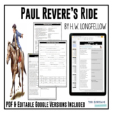 """Poetry Lesson:  """"Paul Revere's Ride"""" by Longfellow {Google Digital Resource)"""