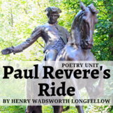 Paul Revere's Ride by Longfellow Activity Pack and Quiz