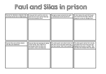 Paul and Silas in prison (Make a Comic)