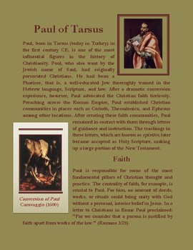 Paul of Tarsus: Intro to His Life and Key Teachings