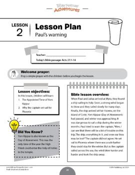 Paul's Shipwreck Activity Book & Lesson Plans