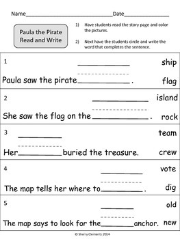 Paula the Pirate Read and Write