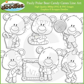 Pauly Polar Bear Candy Canes