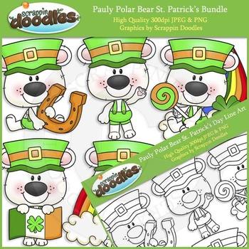 Pauly Polar Bear St. Patrick's Day