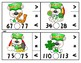 Pauly Polar Bear St. Patrick's Day Comparing Numbers Math Clip Cards