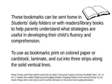 Pause, Prompt, Praise School to Home Bookmarks