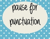 Pause for Punctuation - Improving Reading Fluency