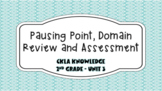 Pausing Point, Domain Review, and Domain Assessment - Unit 3