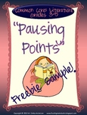 Pausing Point Freebie:  Writing About Reading Sample