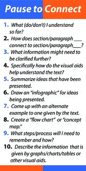 Pausing to Connect to Text Prompt Poster Large 24x48 in.