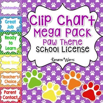Paw Clip Chart Mega Pack School License