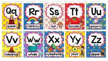 Paw Patrol Alphabet Posters