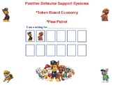 Paw Patrol Behavior Token Board