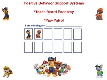 Paw Patrol Behavior Token Board
