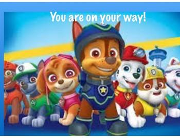 Paw Patrol Clip Chart
