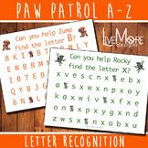 Paw Patrol Letter Recognition Activity Set - Complete Alphabet