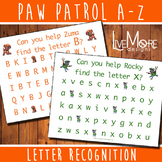 Paw Patrol Letter Recognition Activity Set - Complete Alphabet