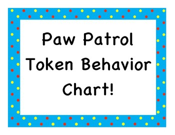 Paw Behavior Chart Worksheets Teaching Resources Tpt