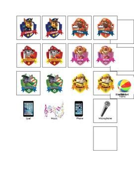 Paw Patrol Tokens for Token Economy Board
