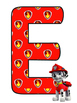 Paw Patrol WELCOME letters