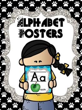 Paw Print Alphabet Poster Cards