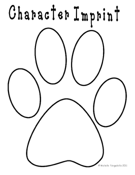paw print book template by the 3am teacher teachers pay teachers