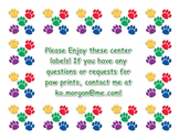 Paw Print Border for Centers