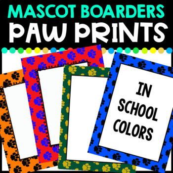 Paw Print Borders