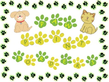 Paw Print Borders Frames Backgrounds
