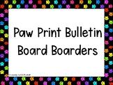Paw Print Bulletin Board Boarders