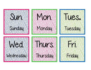 Paw Print Calendar Start Up Set