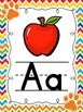 Paw Print Chevron Alphabet Posters
