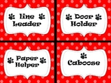 Paw Print Classroom Helpers