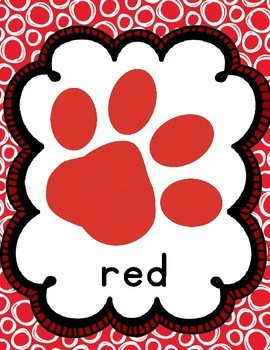Paw Print Color Posters