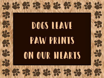 Paw Print EDITABLE labels, signs, task card templates