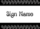 Paw Print Large Station or Classroom Sign