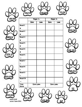 Paw Print Multiplication